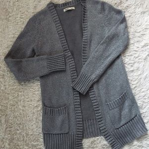 OLD NAVY Sparkly Silver Open Front Cardigan